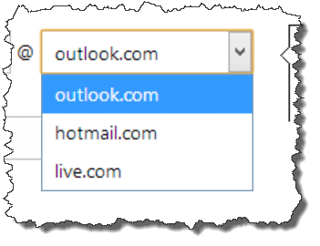 Outlook.com new email domains