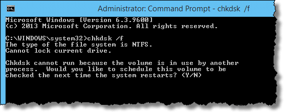 CHKDSK in CMD