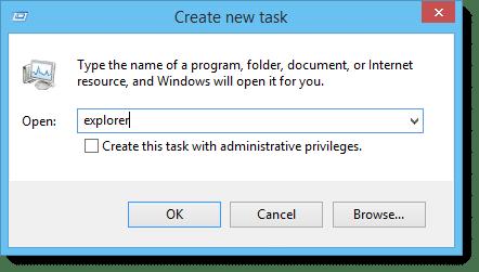 Windows Explorer Create New Task