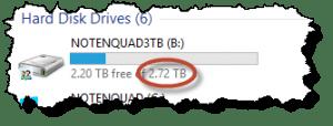 3 terabyte drive on Leo's Machine