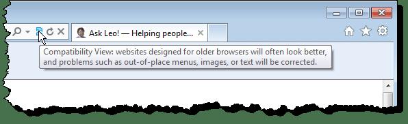 Internet Explorer's Compatibility View