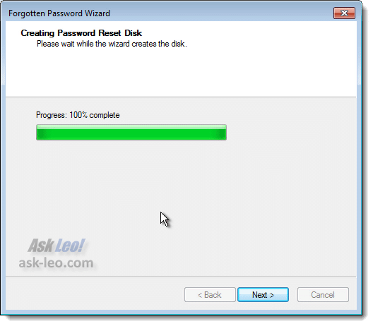 Creating a Password Reset Disk - Complete
