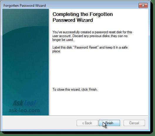 Creating a Password Reset Disk - Final