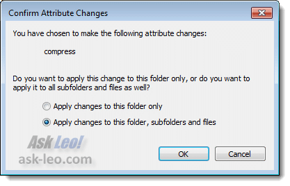 Confirm Attribute Change