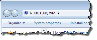 Default - not existent - menu bar in Windows Explorer