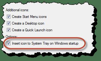 Start with Windows option