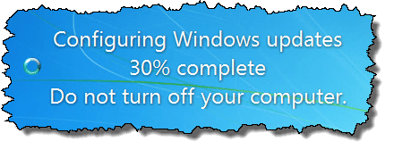 failure configuring windows updates reverting changes takes too long