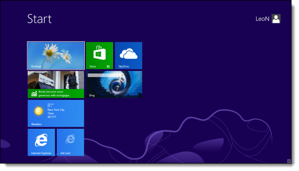 Windows 8 Start Sceen