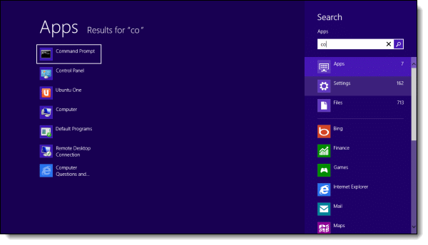 Windows 8 Start Search