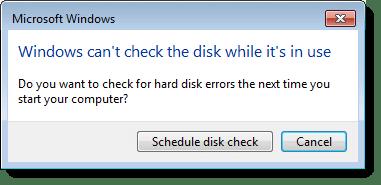 CHKDSK System Drive