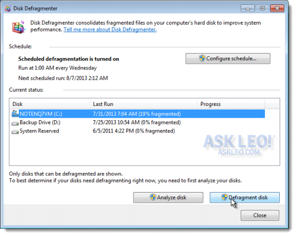 how to defrag hard drive windows 8