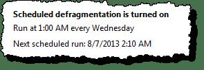 Defragmenting Scheduled