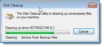 Disk Cleanup Cleaning the System