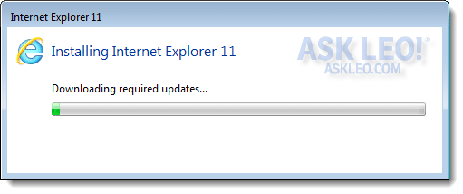 Downloading IE Updates