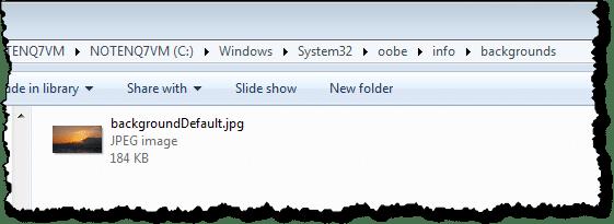 Background image in folder