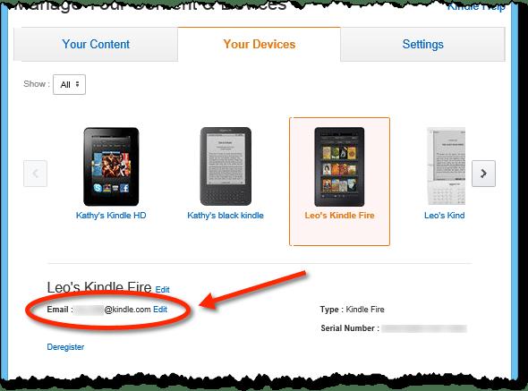 Manage Kindle Device