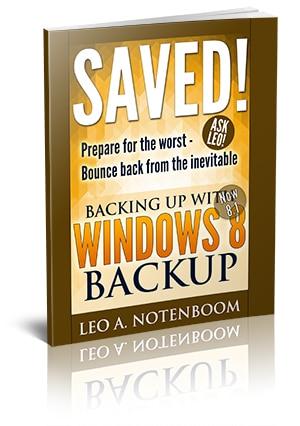 Saved! Backing Up with Windows 8 Backup