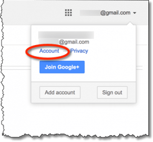 Gmail account link