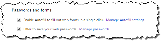 Chrome Passwords and Forms
