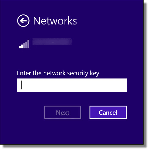 Enter an Open Wi-Fi Password