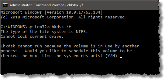 Chkdsk Cannot Run Because The Volume Is In Use By Another Process What Does It Mean And How Do I Fix It Ask Leo