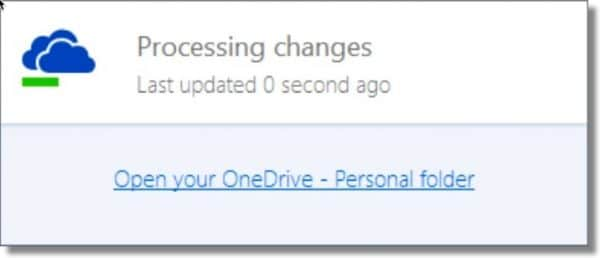 OneDrive Processing Changes