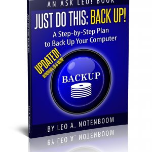 Just Do This: Back Up! - Updated