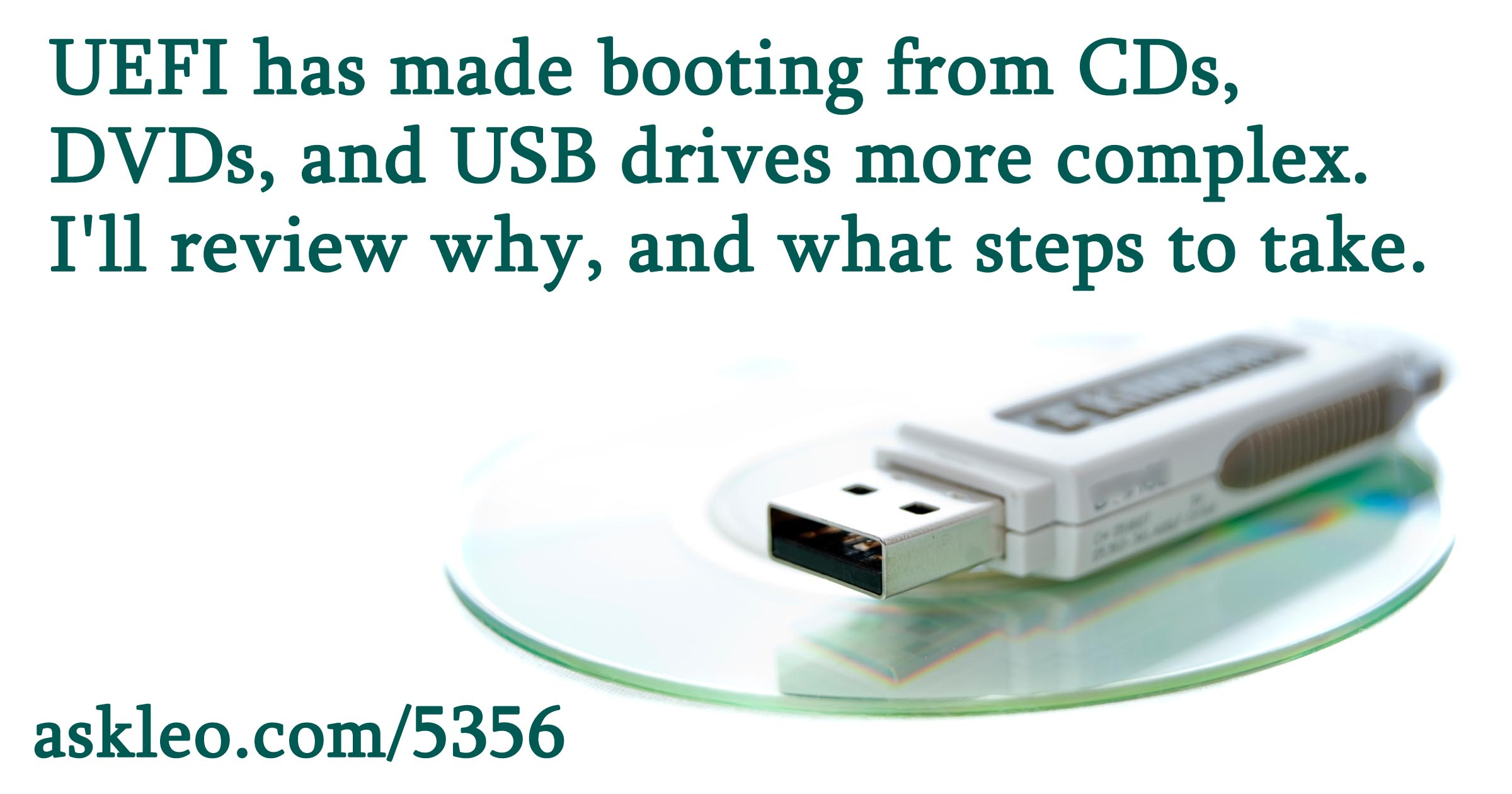 How Do I Boot from CD/DVD/USB in Windows 8 & 10?